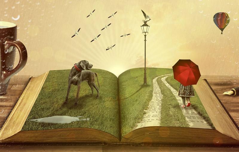 本の中の風景